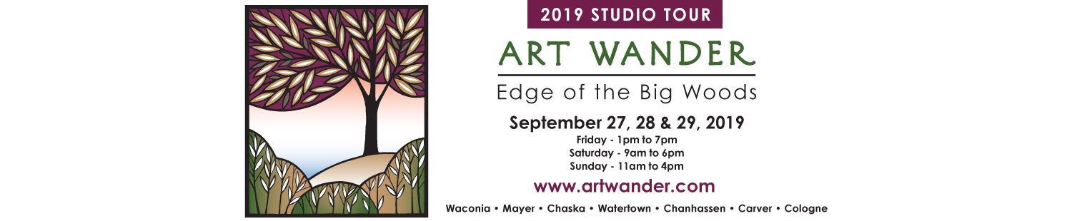Edge of the Big Woods Art Wander Logo