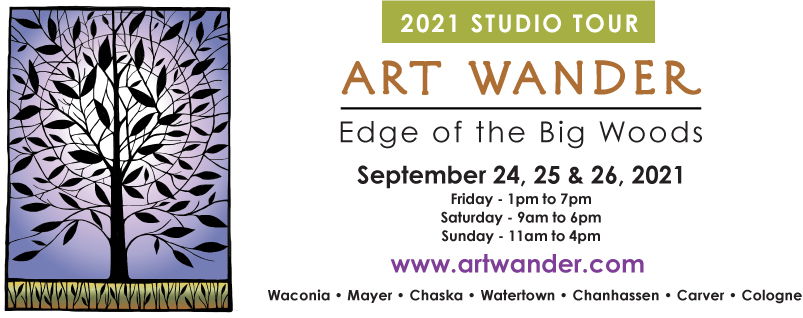 Edge of the Big Woods Art Wander Logo